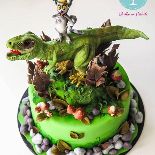 U1 - tort urodzinowy, na urodziny, dla dzieci, artystyczny, dinozaur, t rex, król julian, warszawa, z dostawą,