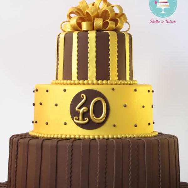 U10 - tort urodzinowy, na urodziny, 40, czterdzieste, artystyczny, warszawa, z dostawą,