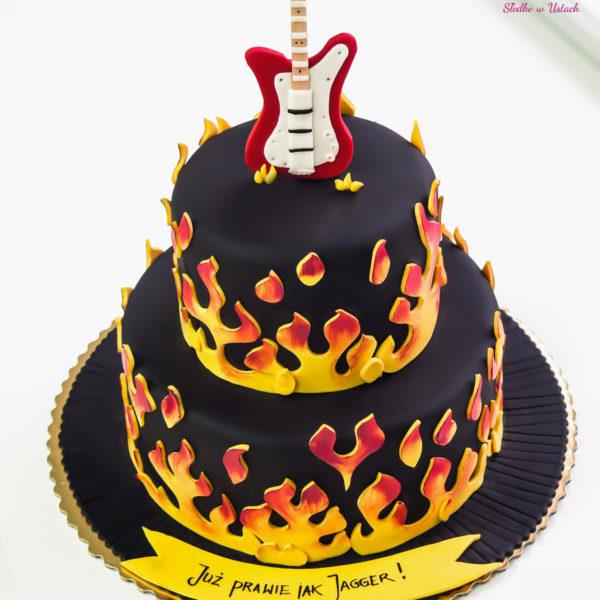 U100 - tort urodzinowy, na urodziny, artystyczny, hobby, pasja ,gitara, muzyka ,rock, warszawa