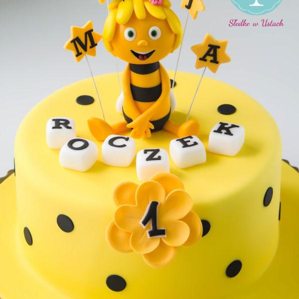 U12 - tort urodzinowy, na urodziny, dla dzieci, artystyczny, pszczółka maja, warszawa, z dostawą,