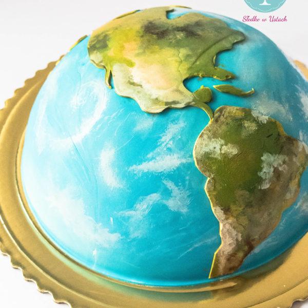 U15 - tort urodzinowy, na urodziny, ziemia, planeta, artystyczny, warszawa, z dostawą,