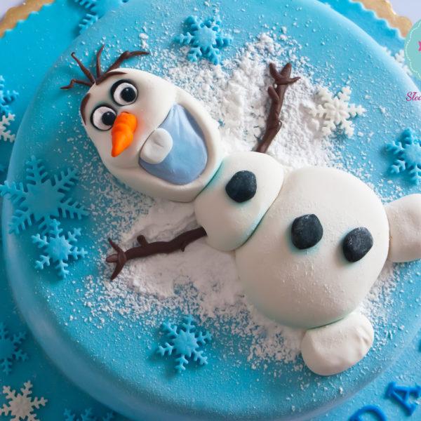 U16 - tort urodzinowy, na urodziny, dla dzieci, artystyczny, kraina lodu, bałwanek, olaf, konstancin jeziorna, z dostawą,