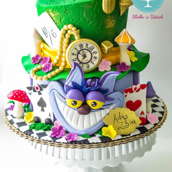 U2 - tort urodzinowy, na urodziny, dla dzieci, artystyczny, alicja w krainie czarów, warszawa, z dostawą,