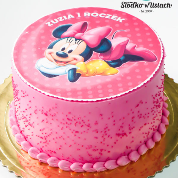 U23 - tort urodzinowy, na urodziny, myszka minnie , klasyczny, warszawa, z dostawą,