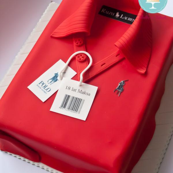 U29 - tort urodzinowy, na urodziny, koszulka polo, 18, osiemnastka, artystyczny, warszawa, z dostawą, ralph lauren