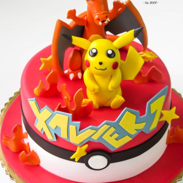 U31 - tort urodzinowy, na urodziny, dla dzieci, artystyczny, pikachu, pokemon, pokeball, warszawa