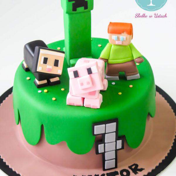 U32 - tort urodzinowy, na urodziny, dla dzieci, artystyczny, minecraft, warszawa