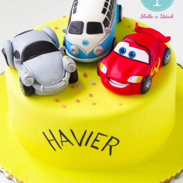 U33 - tort urodzinowy, na urodziny, dla dzieci, artystyczny, auta, cars, zygzak, mcqueen, warszawa