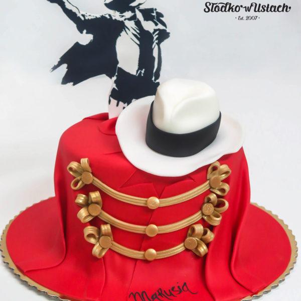 U34 - tort urodzinowy, na urodziny, michael jackson, artystyczny, warszawa, z dostawą, taniec