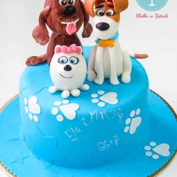 U35 - tort urodzinowy, na urodziny, dla dzieci, artystyczny, sekretne życie zwierzaków domowych, warszawa