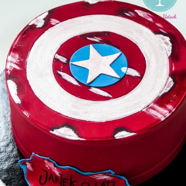 U36 - tort urodzinowy, na urodziny, dla dzieci, artystyczny, avengers, super bohaterowie, kapitan ameryka, warszawa, z dostawą, marvel,