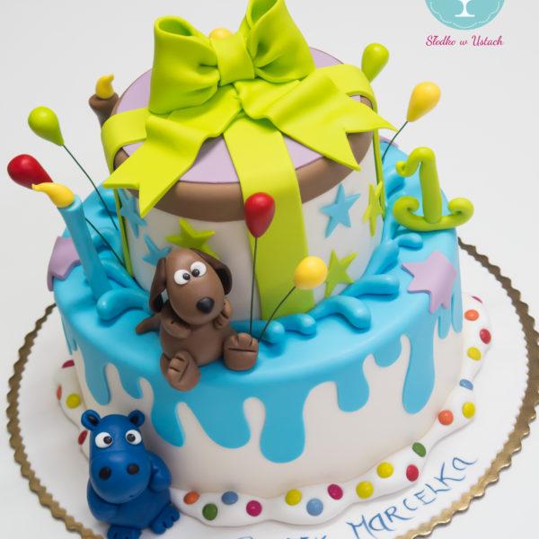 U40 - tort urodzinowy, na urodziny, dla dzieci, artystyczny, zwierzaki, warszawa