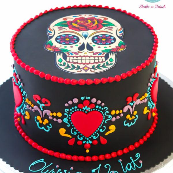 U41 - tort urodzinowy, na urodziny, dla dzieci, artystyczny, dia de los muertos, warszawa,