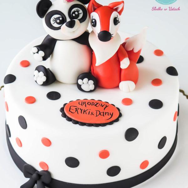 U44 - tort urodzinowy, na urodziny, dla dzieci, artystyczny, zwierzaki, przyjaciółki, warszawa