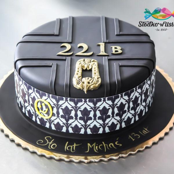 U48 - tort urodzinowy, na urodziny, dla dzieci, artystyczny, sherlock holmes, warszawa,