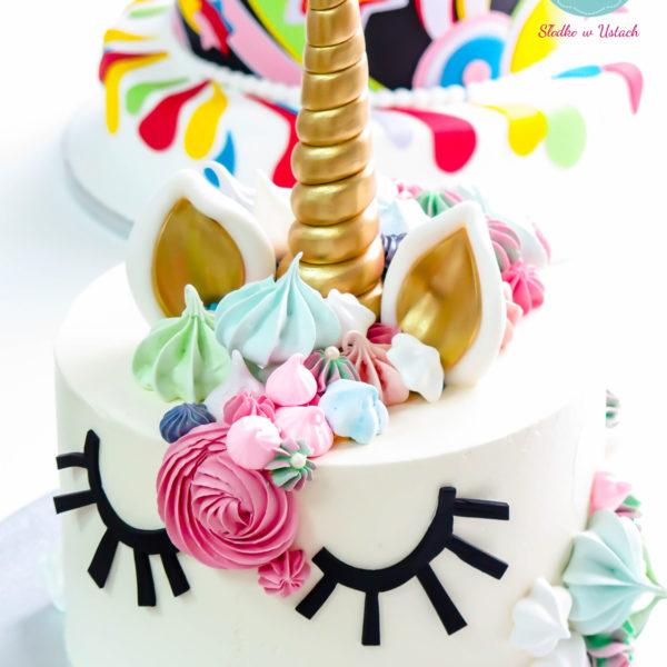 U5 - tort urodzinowy, na urodziny, dla dzieci, artystyczny, jednorożec, warszawa, z dostawą,