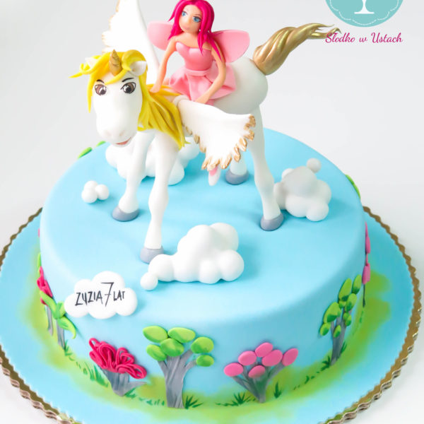 U55 - tort urodzinowy, na urodziny, dla dzieci, artystyczny, jednorożec, warszawa