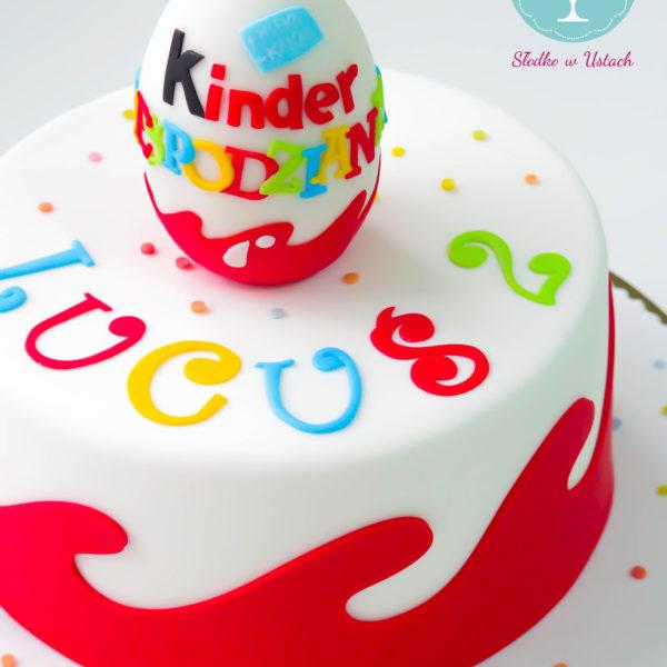 U56 - tort urodzinowy, na urodziny, dla dzieci, artystyczny, jajko niespodzianka, warszawa