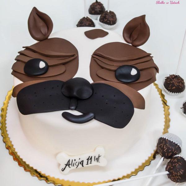 U60 - tort urodzinowy, na urodziny, dla dzieci, artystyczny, psiak,