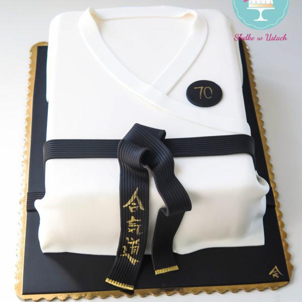 U63 - tort urodzinowy, na urodziny, artystyczny, hobby, pasja ,sport, karate, warszawa