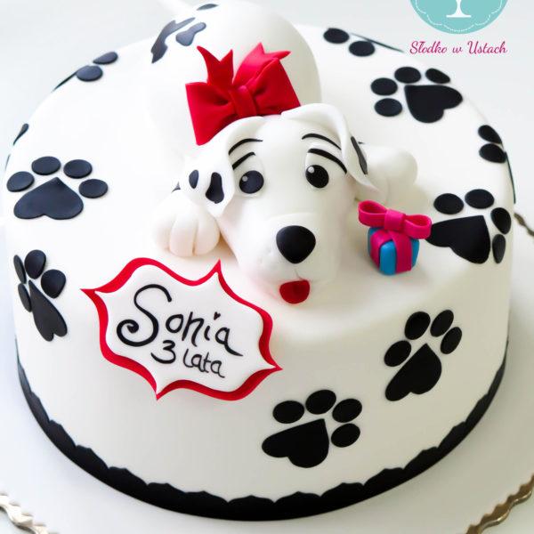 U66 - tort urodzinowy, na urodziny, dla dzieci, artystyczny, psiak,