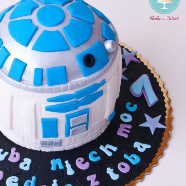 U69 - tort urodzinowy, na urodziny, dla dzieci, artystyczny, star wars, gwiezdne wojny, r2d2, warszawa, z dostawą,