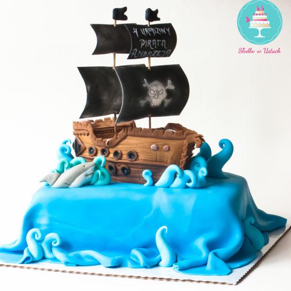 U72 - tort urodzinowy, na urodziny, statek piracki, piraci, artystyczny, warszawa, z dostawą,