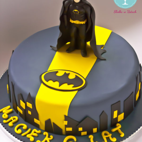 U74 - tort urodzinowy, na urodziny, dla dzieci, artystyczny, batman, dc comics, super bohaterowie, warszawa,