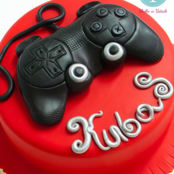 U79 - tort urodzinowy, na urodziny, dla dzieci, artystyczny, pad, konsola, warszawa,