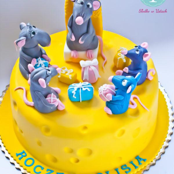 U82 - tort urodzinowy, na urodziny, dla dzieci, artystyczny, ratatuj