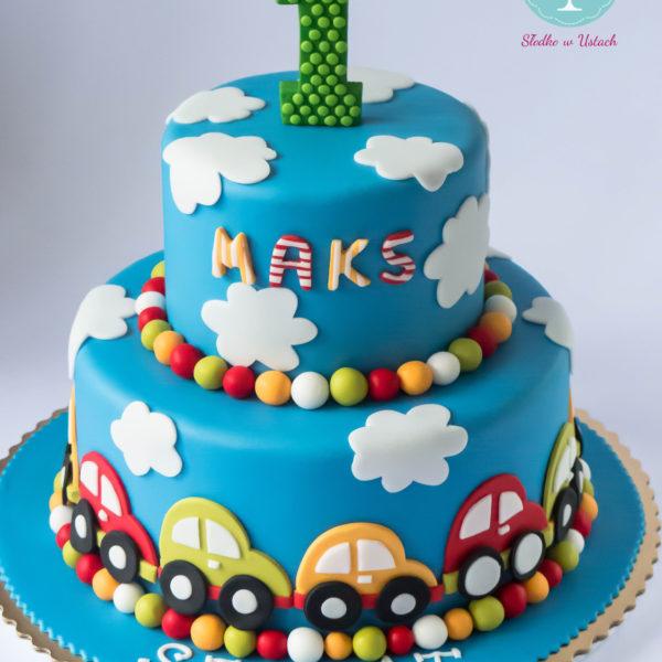 U85 - tort urodzinowy, na urodziny, pierwsze, dla chłopca, artystyczny, warszawa, z dostawą,