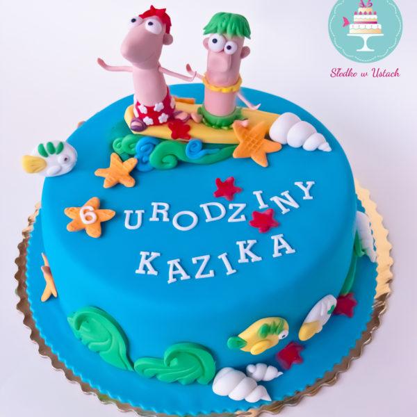 U88 - tort urodzinowy, na urodziny, artystyczny, dla dzieci , deska, surfing, morze, warszawa