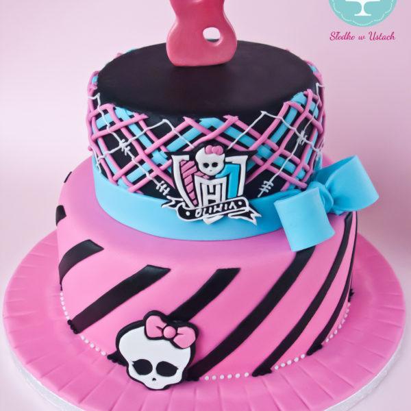 U89 - tort urodzinowy, na urodziny, dla dzieci, artystyczny, monster high, warszawa