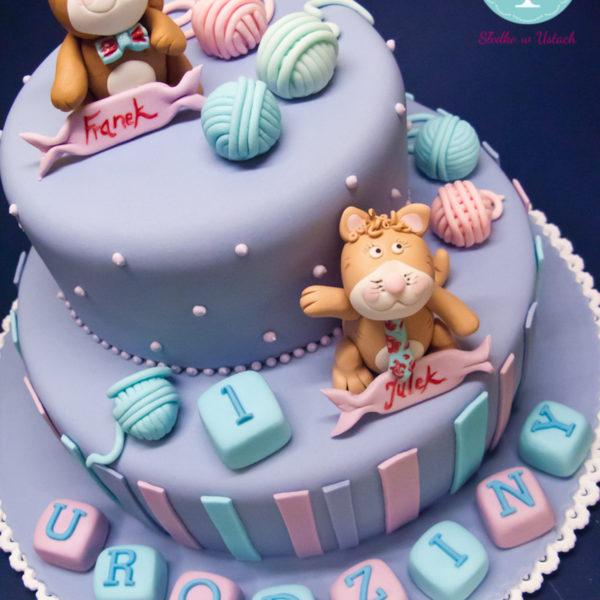 U90 - tort urodzinowy, na urodziny, pierwsze, dla chłopca, artystyczny, warszawa, z dostawą,