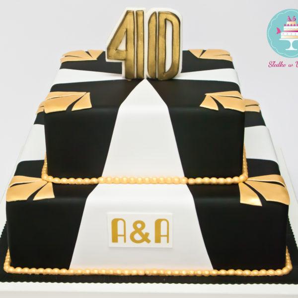 U96 - tort urodzinowy, na urodziny, 40, czterdziestka, great gatsby, wielki gatsby, artystyczny, warszawa, z dostawą,