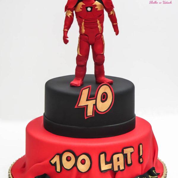 U99 - tort urodzinowy, na urodziny, artystyczny, avengers, super bohaterowie, ironman, warszawa, z dostawą, marvel,
