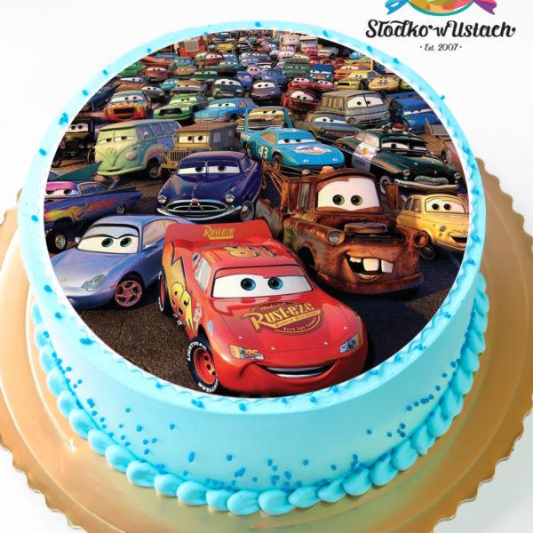 K2 - tort, klasyczny, auta, cars, ze zdjęciem, z wydrukiem, warszawa, urodzinowy, dla dzieci