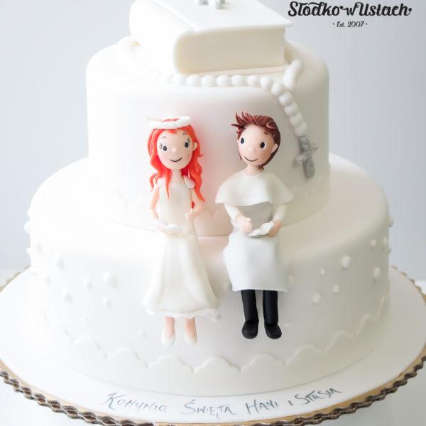 KCH41 - tort na komunie, dla dzieci, artystyczny, komunijny, warszawa