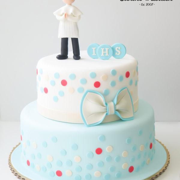KCH44 - tort na komunie, dla chłopca, artystyczny, komunijny,