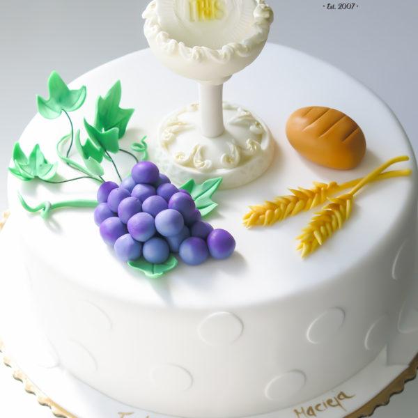 KCH49 - tort na komunie, dla dzieci, artystyczny, komunijny, warszawa