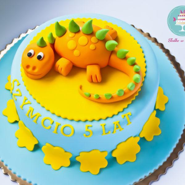 LM4 - tort urodzinowy, na urodziny, dla dzieci, artystyczny, last minute, dino