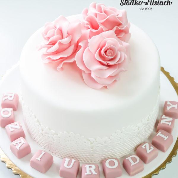 LM7 - tort urodzinowy, na urodziny, artystyczny, last minute, kwiaty