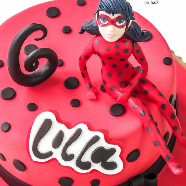 U109 - tort urodzinowy, na urodziny, dla dzieci, miraculum, biedronka i czarny kot, artystyczny, warszawa, z dostawą,