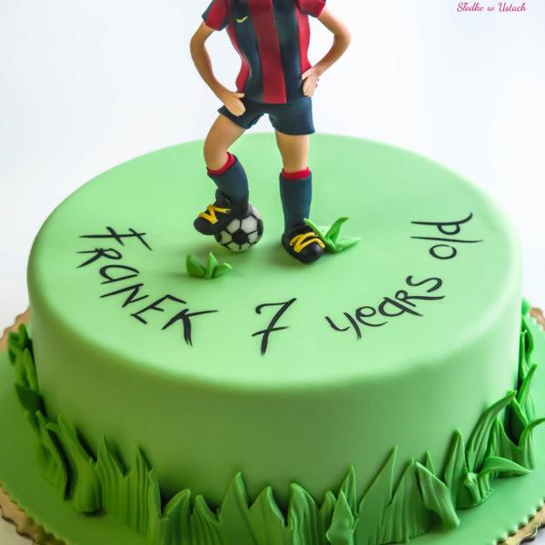 U110 - tort urodzinowy, na urodziny, dla dzieci, artystyczny, piłka nożna, piłkarski, warszawa