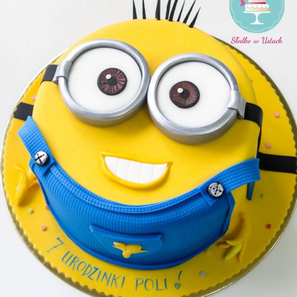 U113 - tort urodzinowy, na urodziny, dla dzieci, artystyczny, minionki, konstancin jeziorna, warszawa