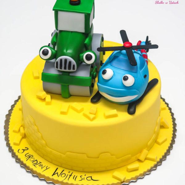 U114 - tort urodzinowy, na urodziny, artystyczny, dla dzieci , budowniczy, warszawa