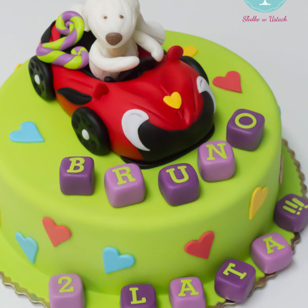 U116 - tort urodzinowy, na urodziny, dla dzieci, przytulanka, artystyczny, warszawa, z dostawą,