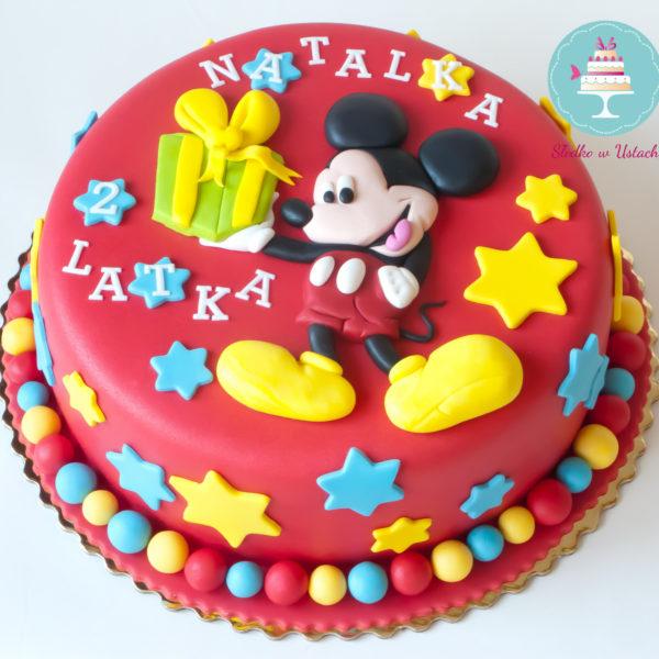 U118 - tort urodzinowy, na urodziny, dla dzieci, artystyczny, myszka mickey, warszawa