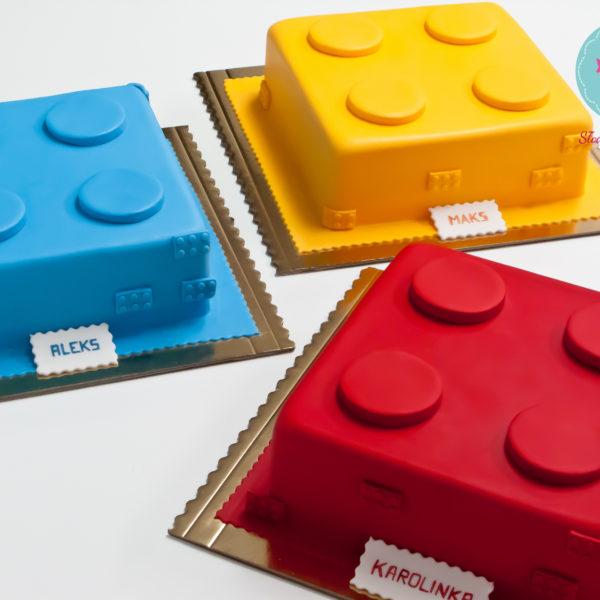 U120 - tort urodzinowy, na urodziny, dla dzieci, artystyczny, lego, duplo, warszawa