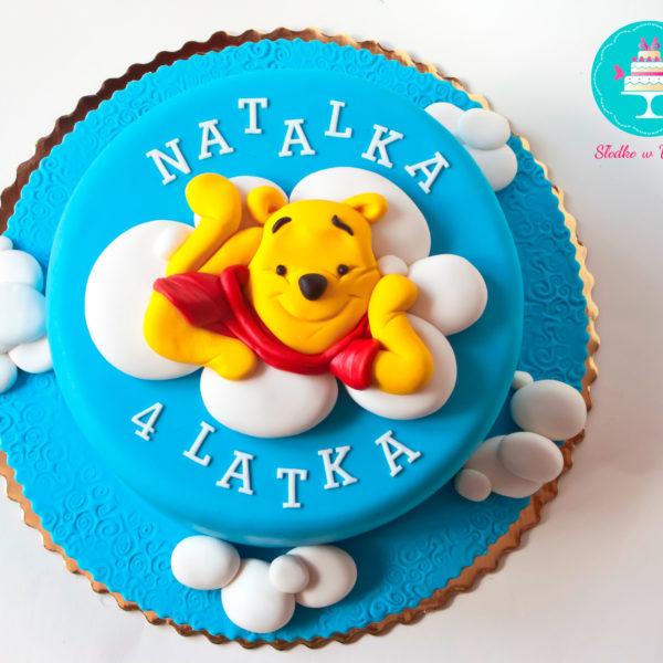 U123 - tort urodzinowy, na urodziny, dla dzieci, artystyczny, kubuś puchatek, warszawa